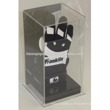 Produtos esportivos Loja de varejo Mesa de mesa Óptica pura Única Luva de futebol ou de futebol Display Case