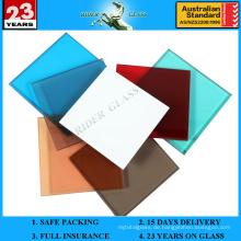 6.38-42.3mm Farbiges PVB Laminiertes Glas mit AS / NZS2208: 1996