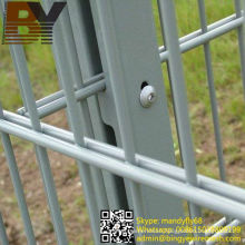 Twin Wire Fencing Double Welded Wire Mesh Fence Panels