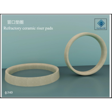 Riser pads with ceramic refractory