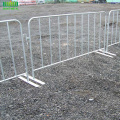 Galvanized Flat foot traffic crowd barrier control