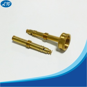 CNC turning machining knurled brass parts
