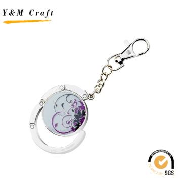 Förderungs-Geschenk kundengebundener Metallfaltbarer Geldbeutel-Kristalltaschen-Aufhänger
