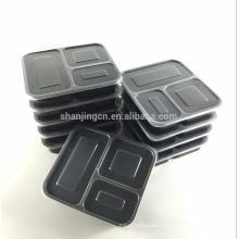 Contenedores de comida prep sin bpa, reutilizables, aptos para lavavajillas, compartimento de bento 3 compartimientos con tapas herméticas