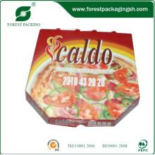 Caixa de pizza de papelão ondulado feito de papel branco