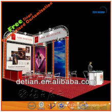 folding and recycle truss booth display for trade show fair exhibition