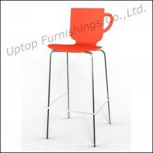 Bancadas de bar de cadeira de plástico High Bar para pernas de cromo (SP-UBC278)