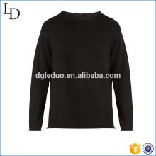 Le dernier fabricant de conception de chandail de pull noir de qualité supérieure mens en Chine