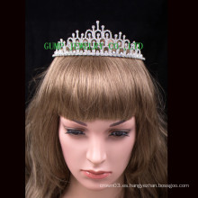 Corona al por mayor de la muchacha de la belleza corona linda de la princesa de la boda del rhinestone