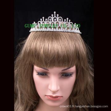 Vente en gros beauté fille couronne mignonne rhinestone mariage princesse tiare