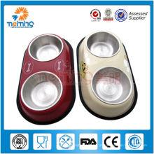 2013 novos produtos de aço inoxidável anti-derrapante bacia pet dupla
