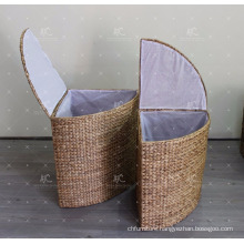 Water Hyacinth Laundry Basket - Set of 2