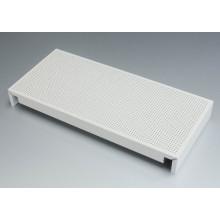 Azulejos de teto de alumínio perfurado branco