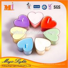 Le nouveau style adapté aux besoins du client de matière première écologique adaptée aux besoins du client de bougie de bougie de forme de coeur