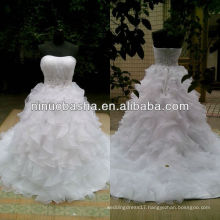 NW-427 Sweetheart Neckline Ruffle Skirt with Beaded Waist Wedding Dress 2013