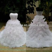 NW-427 Sweetheart Decline Ruffle saia com Beaded Waist casamento vestido 2013