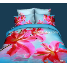comfortable 100% polyester 3d bedsheet fabric