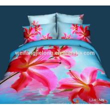 confortável 100% poliéster 3d tecido lençol