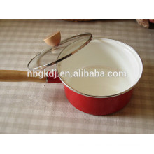 printed enamel saucepan pots with glass lid