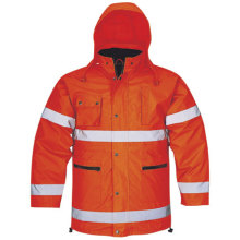 5 in 1 High Visibility Winter Parka Ropa impermeable Chaqueta reflectante de seguridad Adulto's