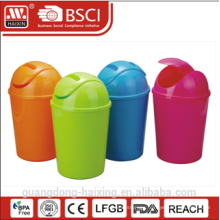 Colorful plastic dustbin