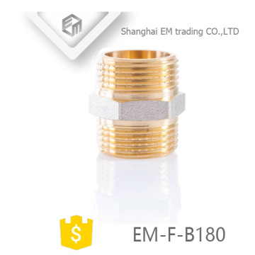 EM-F-B180 Male brass hexagon union pipe fitting