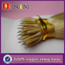 Extensão de cabelo cor de vinho 99j Remy Nano Borgonha