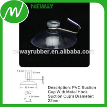 High Quality 22mm Suction Cup with Metal Hook