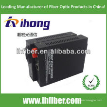 10 / 100M Fiber Optic Media Converter Singlemode Dual Fiber FC Port 20km