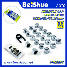 20 + 1PCS ABS plástico Hex Wheel Bolt Topper Caps Set