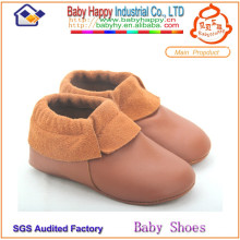 MOQ 52 baby moccasin wholesale soft sole leather baby shoe