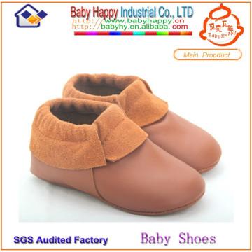 MOQ 52 Baby Mokassin Großhandel weichen Sohle Leder Baby Schuh