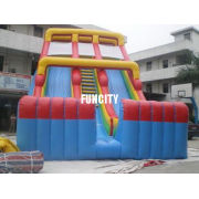 Commercial 0.55mm Pvc Tarpaulin Double Lane Inflatable Toys Dry Slide For Kids And Adult