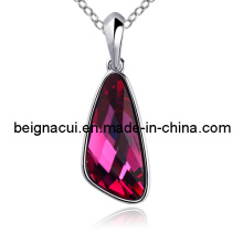 Sw Elements Crystal Fuchsia Color Charm Necklace