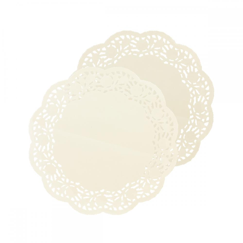 Round White Paper Doilies With Beautiful Lace