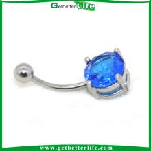 Circón zafiro grande sofisticado para China de perforación del cuerpo del bailarín de vientre