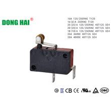 Короткий шарнирный роликовый микропереключатель