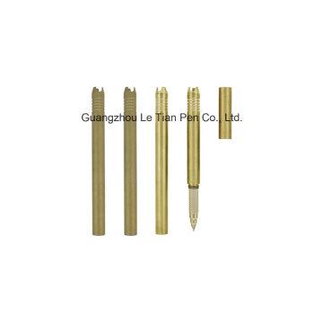 Stylo gel de luxe en métal doré avec capuchon Lt-L456