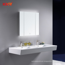 Modern Bathroom Wall Mounted Rust Resistant Lighted Mirror Cabinet