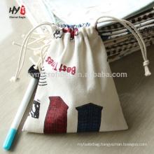 Different fashion canvas drawstring bag