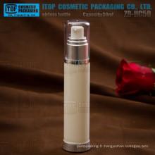 ZB-HC50 50ml moderne mince ronde finition brillante cosmétiques en plastique cosmétique lisse et propre vide