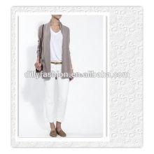 100% cashmere European cardigan front open cardigan