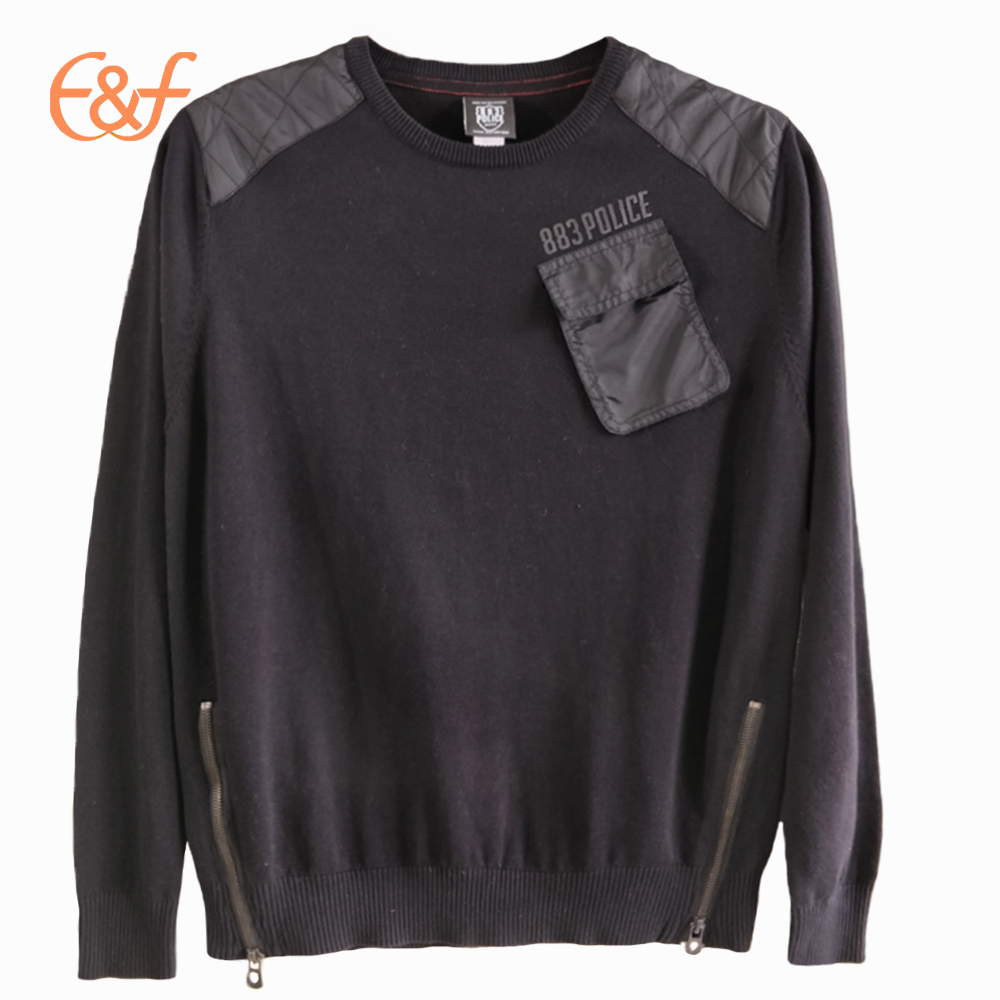 New Design Fashion Plain Jumpers with Zippers