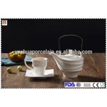 ceramic tea pot with cup and saucer wholesale