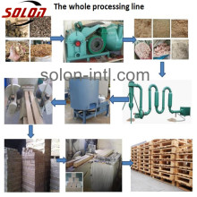 wood block extruder machine wood pallet presser