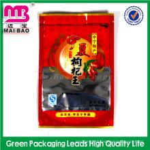 Custom cheap handmade aluminum foil ziplock style spice kush bag with clear window
