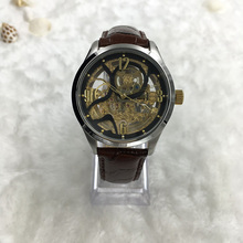 Klasik Manusia Mekanik Skeleton Wrist Watch