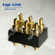 Connecteur Pin Pogo à ressort imperméable à 6 broches
