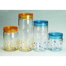 Round Glass Jar with Acrylic Cover