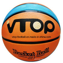 Two Color Special Model High Quality Rubber Basketball for Sporting